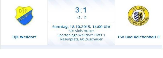 DJK Weildorf I – TSV Bad Reichenhall II  3:1